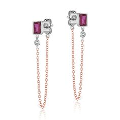 Meira T Ruby Bezel Earrings available Michael Herr Diamonds & Fine Jewelry. Visit our St. Louis area store or contact us to order.