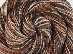 Handspun Yarn - TRUFFLE MIX - Handpainted Baby Camel / Tussah Silk, DK weight, 344 yards - pinned by pin4etsy.com