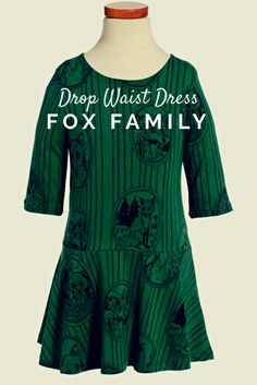Mini Rodini Fox Family Drop Waist Dress (Toddler Girls & Little Girls) Toddler Girl Style, Toddler Girl Dresses, Toddler Girls, Girls Dresses, Family Print, Warm In The Winter, Autumn Inspiration, Drop Waist, Clothing Items