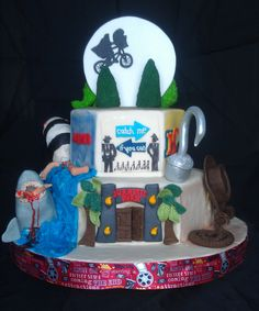 Reverse side of Tim Burton cake...all Steven Spielburg movies.