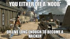 Call of Duty logic - http://geekstumbles.com/funny/call-of-duty-logic/
