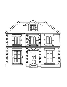 Houses Are A Very Popular Subject For Coloring Pages Different Types Of Used Human Accommodation Throughout The World Which Varies In Their