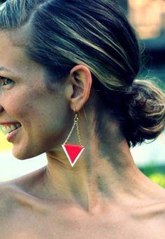 DIY Arrowhead earrings.