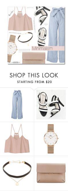 """- Minimalism -"" by fashionablemy ❤ liked on Polyvore featuring Topshop, Behance, TIBI, Daniel Wellington, Jennifer Zeuner, MANGO, Sinclair, minimalism and minimalistic"