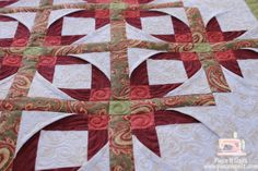 mexican star quilt pattern | have share a few close ups cuz I love how it turned out. :)