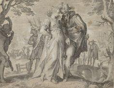 Joachim Antonisz. Wtewael,The courting of Belgica (from the Belgica series), 1612. Albertina, Vienna