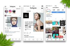 Fashion Instagram Post by GiantDesign Shop on @creativemarket