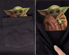 Baby Yoda In Middle Finger Funny Black Pocket T Shirt S-6Xl - LibeTee Movie Memes, Funny Movies, Bride Wine Glass, Funny Nurse Gifts, Dorm Tapestry, Cute Sloth, Punk Outfits, Hand Engraving, Online Gifts
