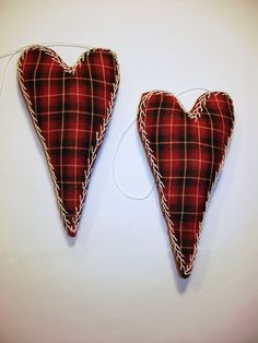 Pair of Plaid Heart