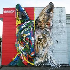 "Bordalo II, ""Half Coyote"" in San Francisco, CA, USA, 2018"