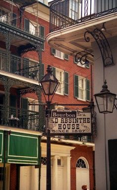 Sign post on Bourbon Street, New Orleans.