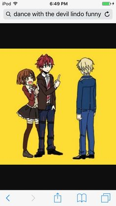 Dance with Devils- Lindo, Rem, and Ritsuka anime funny Dance With Devils, Takane To Hana, Cricket, Manga Characters, Fictional Characters, Ppg And Rrb, Anime Crossover, Rwby, Anime Manga