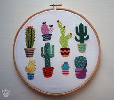Cactus Modern Cross Stitch Pattern PDF by VelvetPonyDesign