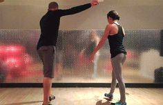 American Ninja Warrior Workout Training Tips: Handstand Push-Ups (Targets: shoulders, abs)