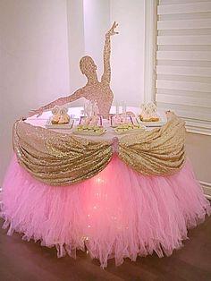 KandyKrush's Birthday / Ballerina - Ballerina Birthday Party at Catch My Party Ballerina Birthday Parties, 3rd Birthday Parties, Princess Birthday, Princess Party, Birthday Party Decorations, Girl Birthday, Birthday Ideas, Ballerina Party Decorations, Dance Party Birthday