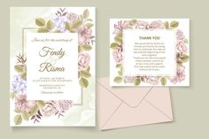 Premium Vector | Elegant wedding invitation floral design Wedding Invitation Card Template, Elegant Wedding Invitations, Floral Design, Place Card Holders, Templates, Frame, Picture Frame, Stencils, Floral Patterns