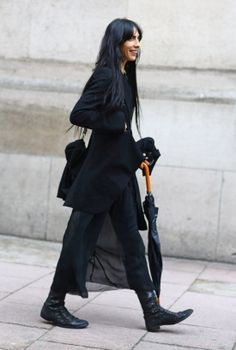 Jamie Bochert in Black | Street Fashion | Street Peeper |