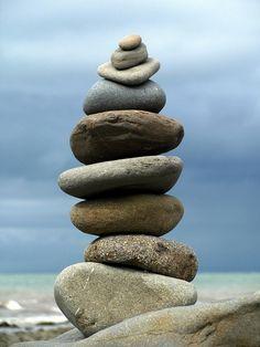 zen - cairn by Moshi Moshi Zen Rock, Rock Art, Mini Jardin Zen, Stone Balancing, Stone Cairns, Rock And Pebbles, Love Rocks, Pebble Art, Stone Art