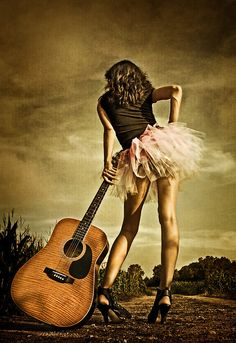 "♫♪ Music ♪♫ Guitar girl ""The Long Road To Nashville"" by Georgi Ruley: Agent7"
