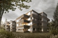 PROJEKTE - Wohnhaus Bally - Think Architecture Think, Multi Story Building, Architecture, Switzerland, Projects, Homes, House, Arquitetura, Architecture Design