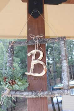Rustic Charming Log Decor by OutdoorWeddingDecor on Etsy, $30.00