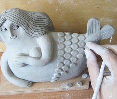 Adorable clay mermaid!