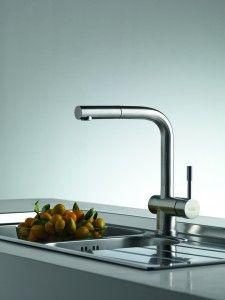 Keukenkraan zonder achterzwaai - Franke