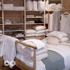Organic bedding sets start with organic yarns and threads. At Rawganique, we have been focusing on handcrafting the most pure and eco friendly bedroom accessories possible with humanity's oldest fibers: organic cotton, linen, and hemp. Linen Bedding, Bedding Sets, Bed Linen, Linen Shop, Bedroom Accessories, Sustainable Clothing, Luxury Bedding, Bed Sheets, Ladder Decor