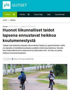 Communikén järjestämien verkostoitumistreffien satoa. Tutkija Marko Kantomaan (Likes) tutkimus Ylen aamu-tv:ssä ja nettisivuilla syyskuussa 2013. Koko juttu täällä: http://yle.fi/uutiset/huonot_liikunnalliset_taidot_lapsena_ennustavat_heikkoa_koulumenestysta/6838272
