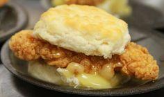 Honey Butter Chicken Biscuits at Holiday World & Splashin' Safari
