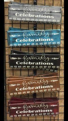 Birthday Board. Calendar, Birthdays, Dates, Names, Family, Celebrations, Arrow