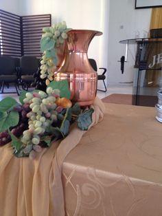Julho 2015. Obrigado Luiza Peraro e Claudete Farias juntamente com Pedrinha Carara que de uma forma maravilhosa deixaram lindo a celebração da Santa Ceia.
