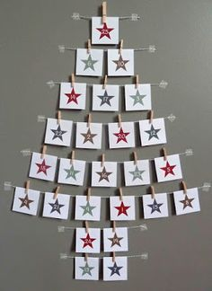 Magical and Creative DIY Advent Calendar Ideas You'll Love Wall Christmas Tree, Noel Christmas, Winter Christmas, All Things Christmas, Christmas Decorations, Dyi Decorations, Christmas Ideas, Christmas Offers, Xmas Tree
