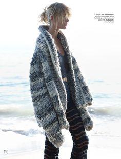 """Close Knit"" Louise Mikkelsen By Stephen Ward For Elle Australia February 2015"