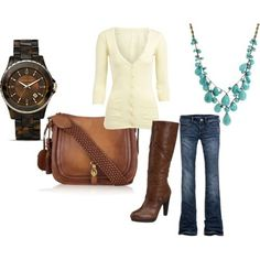I love all of this. especially the necklace. by patti