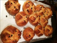 Mrs Beeton's Hot Cross Buns glazed and ready to serve. Photo © Jacqui Newling for Sydney Living Museums