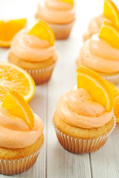 Orange Creamsicle Cupcakes with Vanilla Buttercream Frosting | asimplepantry.com #MullerMoment #ad