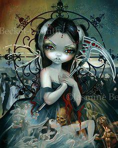 Jasmine-Becket-Griffith-art-print-fairy-skull-angel-SIGNED-Unseelie-Court-Death