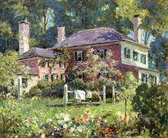 House and Garden ~ Abbott Fuller Graves ~ (American: 1859-1936)