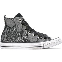 84892dcf8 Converse All Star lace hi-tops ( 176) ❤ liked on Polyvore featuring shoes