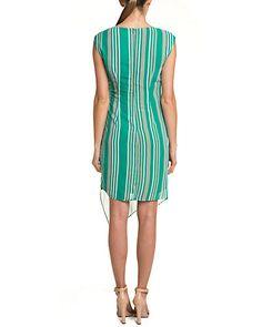 Coconinno by Eva Franco Stripe Asymmetrical Dress