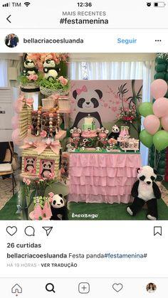 Panda Themed Party, Panda Birthday Party, Panda Party, Girl Birthday Themes, Bear Party, Birthday Decorations, Pink Panda, Panda Love, Panda Bear
