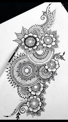 37 Ideas flowers tattoo men mandala is part of pencil-drawings - pencil-drawings Mandala Doodle, Mandala Art Lesson, Mandala Artwork, Mandala Tattoo Men, Doodle Art Drawing, Zentangle Drawings, Mandala Drawing, Cool Art Drawings, Zentangles