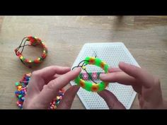 How to Make Perler Bead Bracelets. We love Perler Beads (aka Hama Beads or Melty Beads) in our house. We are always making all sorts of different designs. Bead Crafts, Jewelry Crafts, Art For Kids, Crafts For Kids, Beaded Jewelry, Beaded Bracelets, Perler Bead Art, Crafty Kids, Bracelet Crafts