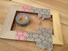 Qu'est ce que le masking tape ? Cadre Photo Diy, Diy Photo, Masking Tape, Cinta Washi, Origami And Quilling, Washi Tape Crafts, Pinterest Crafts, Creation Deco, Fabric Tape