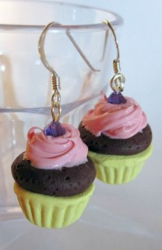 How to make polymer clay cupcake earrings  www.youtube.com/watch?v=ygpxnwrhxiI