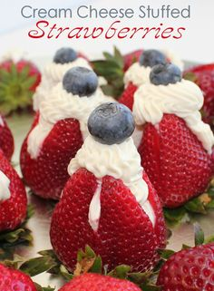 Cream Cheese Stuffed Strawberries from @Jamie Wise Wise Cooks It Up!