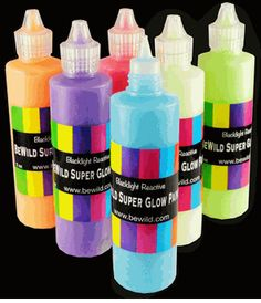 Next Generation SUPER Glow in the Dark (Black Light Reactive) Paint