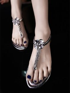 The new summer 2014 RC shoes elastic studded leather thong sandals with flat  shoes comfortable flowers on EdithJewelry.com 29fefee4e662
