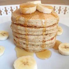 Pancakes banane-avoine - Les cuillères en bois - The Best Breakfast and Brunch Spots in the Twin Cities - Mpls. Banana Oat Pancakes, Baked Pancakes, Banana Oats, Vegan Pancakes, Breakfast Pancakes, Brunch Recipes, Breakfast Recipes, Pancake Recipes, Baking Recipes